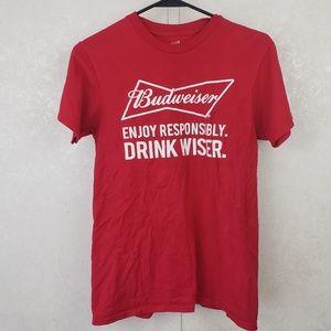Hanes Budweiser Enjoy Responsibly Drink Wiser Tee